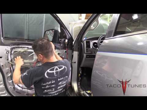 How To Install Component Speakers Toyota Tundra 2007-2013 With Tweeters In Sail Panel.