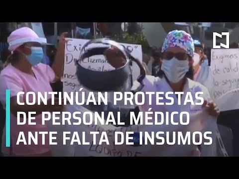 Personal médico protesta por falta de insumos ante el coronavirus - En Punto