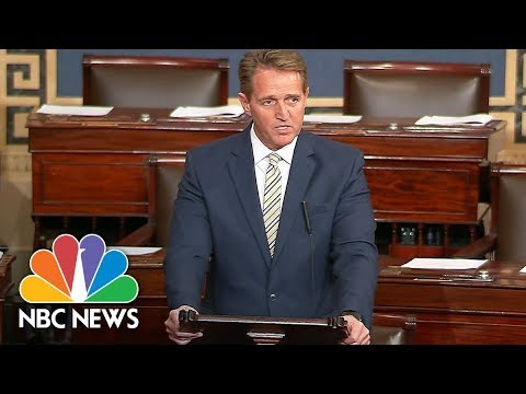 Senator Jeff Flake Slams President Donald Trump's News Media Attacks | NBC News