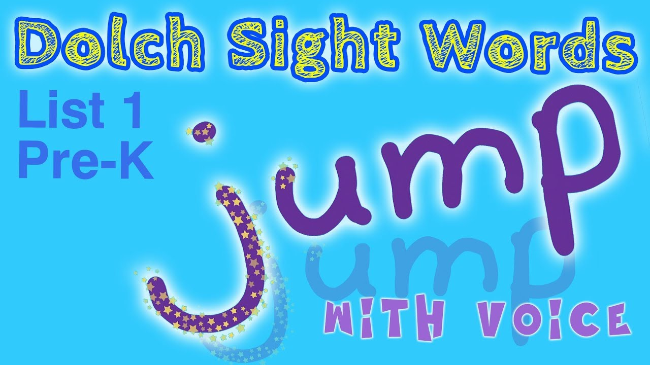 DOLCH Sight Words Pre-K (List 1) with voice