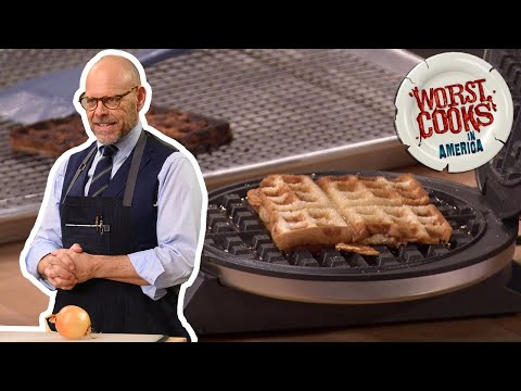 Alton Brown Makes A Waffled Chicken Sandwich And Chicken Soup | Worst Cooks In America