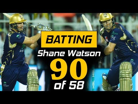 Shane Watson Superb Batting 90 of 58 in PSL | Quetta Gladiators Vs Karachi Kings | HBL PSL 2018