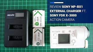 Review Sony NP-BX1 External Battery Charger for Sony FDR X-3000 Action Camera | Broewnis Photo