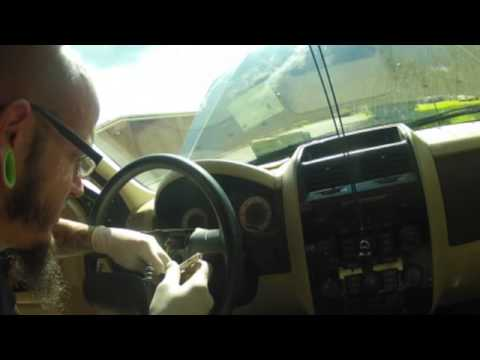 2008 Mazda Tribute Ignition Switch Tumbler Airbag Removal