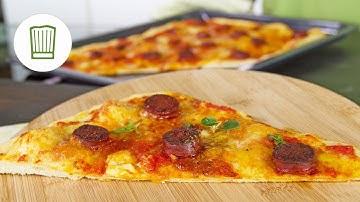 Pizza mit Chorizo und Büffelmozzarella | Chefkoch.de