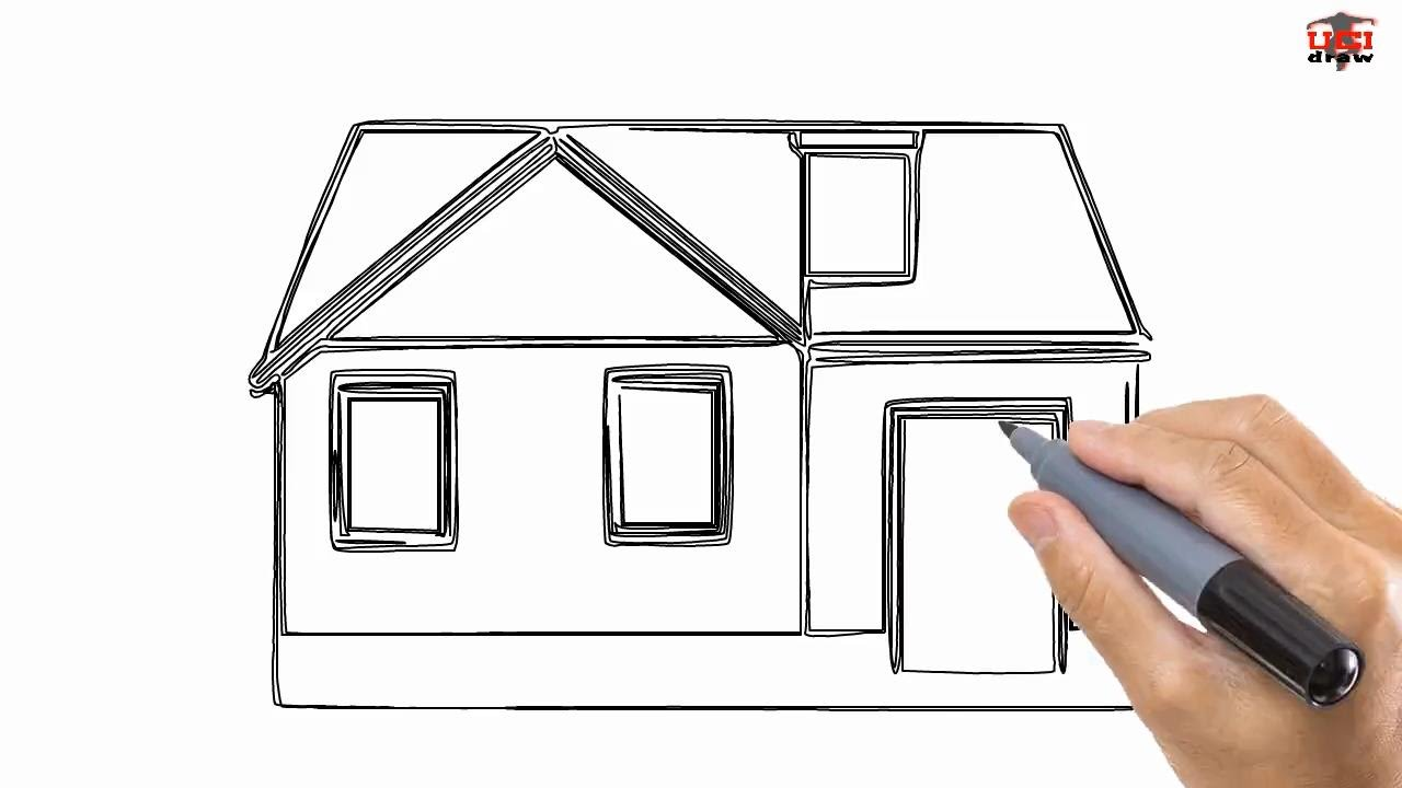 How to Draw a House Easy Drawing Step By Step Tutorials for Kids  UCIDraw  YouTube