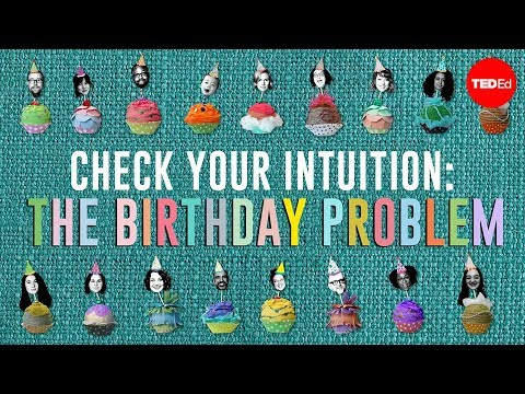 Thumbnail: Check your intuition: The birthday problem - David Knuffke