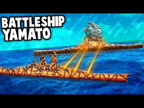 Epic BATTLESHIP YAMATO vs Montana in FORTS!  (Forts Gameplay - Epic Battleships Custom Map)