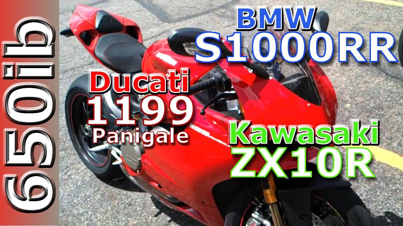 2012 Bmw S1000rr Vs 2012 Ducati Panigale Vs Kawasaki Zx10r