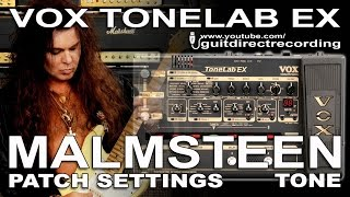 Download Video MALMSTEEN tone on Tonelab EX [Marshall Simulation] Guitar Patch [#15]. MP3 3GP MP4