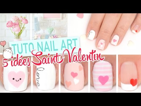 5 idees Nail art faciles pour la Saint Valentin ♡