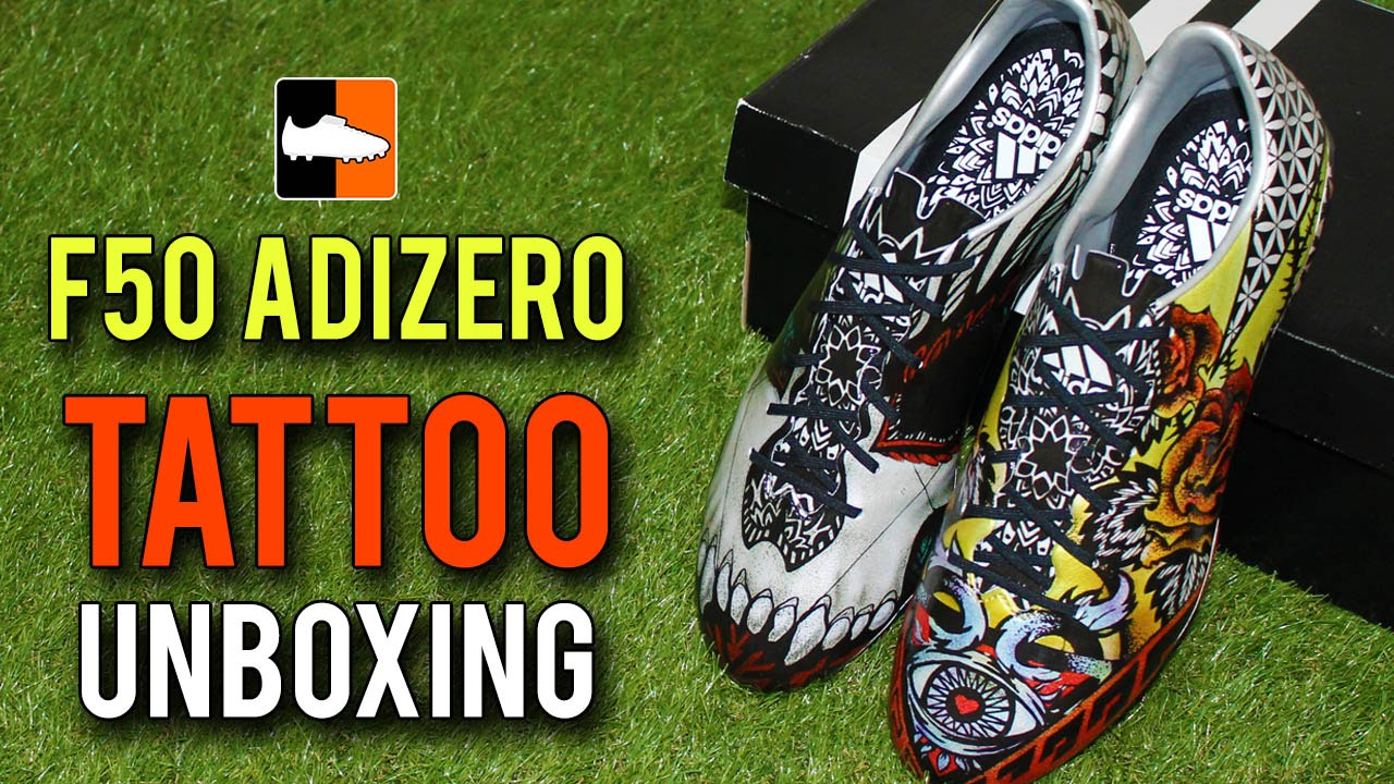 ... adidas F50 adiZero Unboxing - Tattoo LoveHate Edition - YouT ... a86cfc9c8d