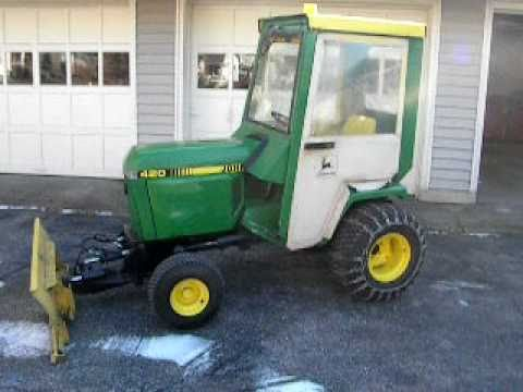 John Deere 420 Tractor Review   YouTube