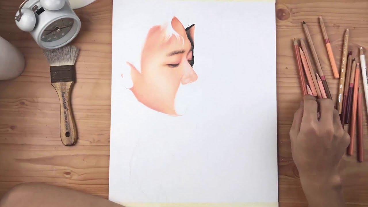 Hướng dẫn tả da _ tỉa tóc  /Vẽ chân dung căn bản