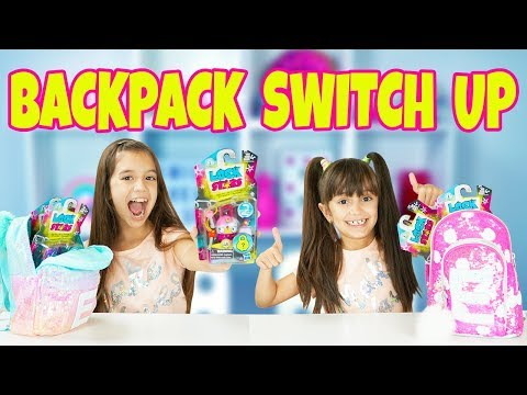 BACKPACK SWITCH UP CHALLENGE with New Collectible Lock Stars from Hasbro AD