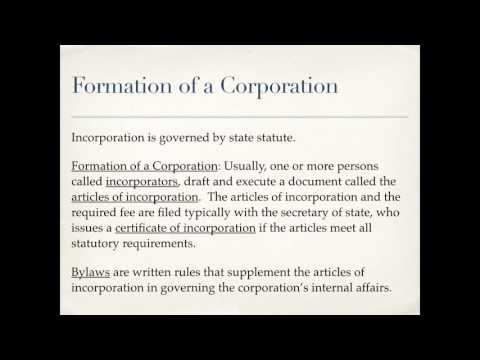 Business Organizations: Corporations