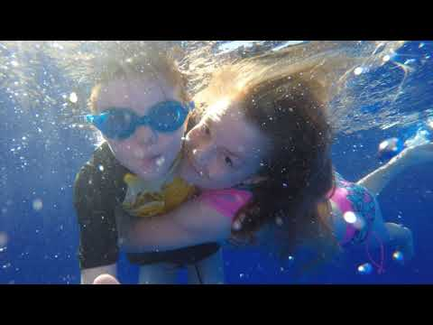 Emily & William in the Pool 22nd Oct 2017