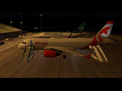 CYDF-Deer Lake Landing In A319 Air Canada Rouge Toliss X-Plane 11