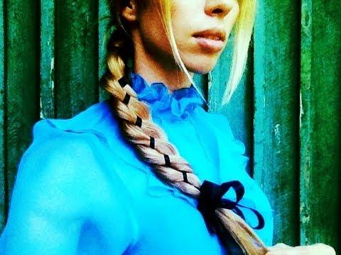 Вплетение ленты в косу.