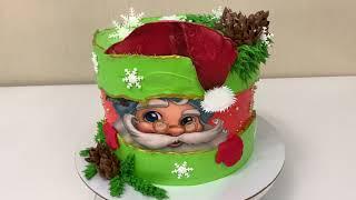 Торт на Новый год Идея украшения Новогоднего Торта 2021 Красивый торт