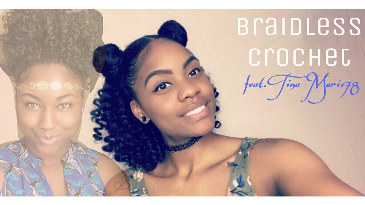 Braidless Crochet Half Up Half Down With Space Buns Collab With