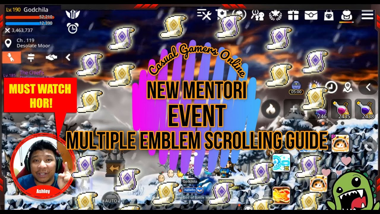 Maplestory m - Mentori Event and Multiple Emblem Scrolling Guide
