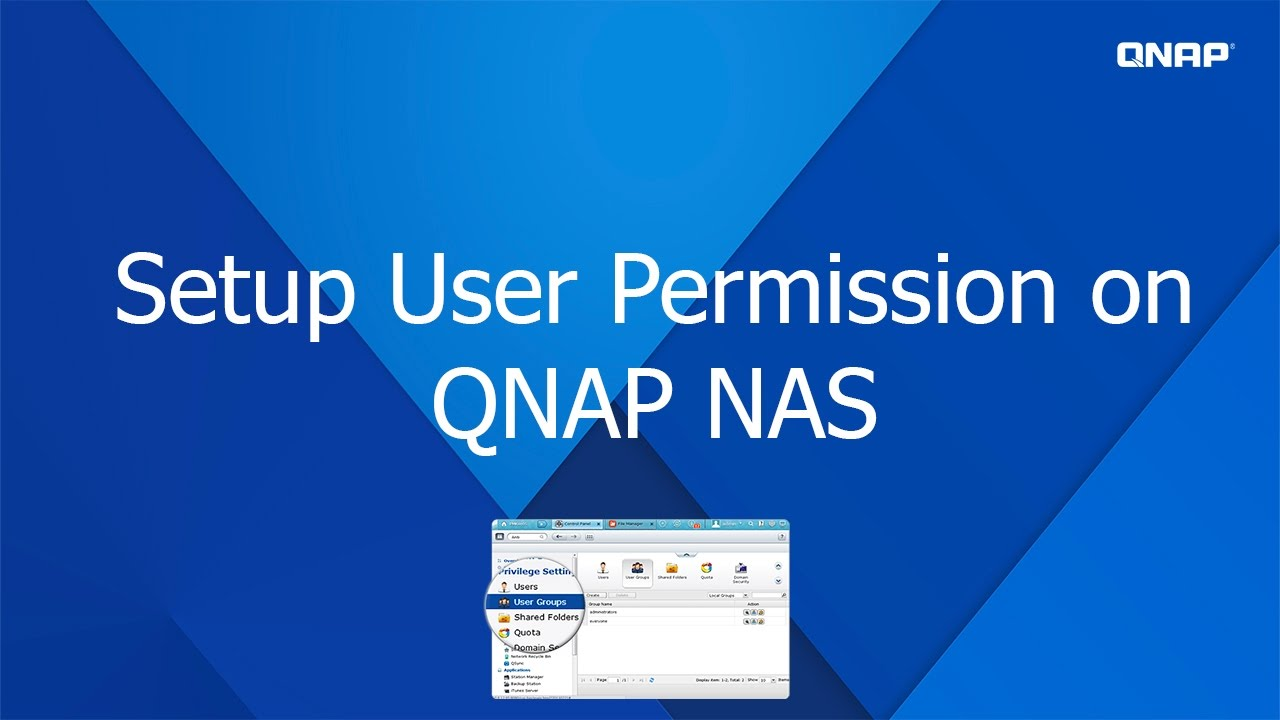 QNP120 - Setup User Permission on QNAP NAS