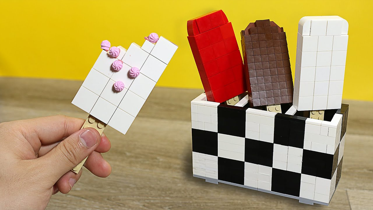 Download Eating Lego Ice Cream - Lego In Real Life / Stop Motion Cooking & ASMR