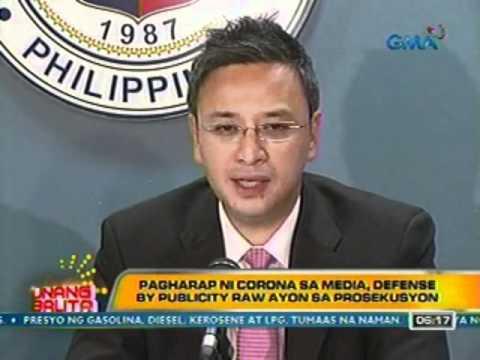 UB: Pagharap ni Corona sa Media, Defense by Publicity raw ayon sa Prosekusyon (030812)