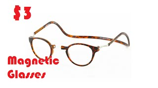 Aliexpress Unboxing: $3 Clic magnetic Reading Glasses