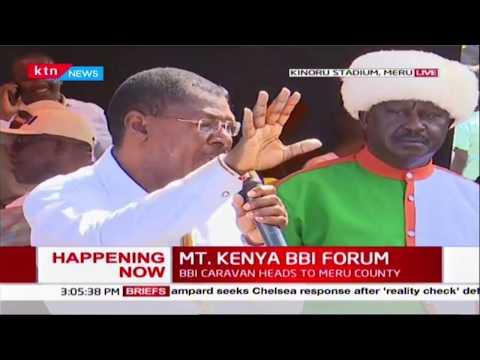 Senator Wetangula\'s address during MT. KENYA BBI FORUM
