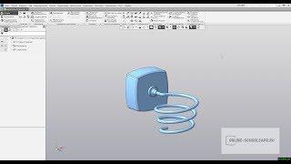 Видеоуроки Компас 3D. Держатель для фена - сборка