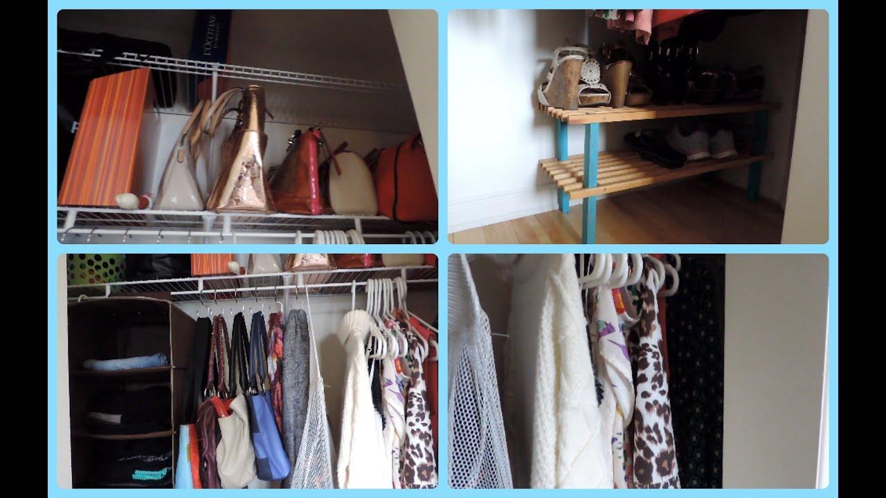 comment organiser une petite garde robe youtube. Black Bedroom Furniture Sets. Home Design Ideas