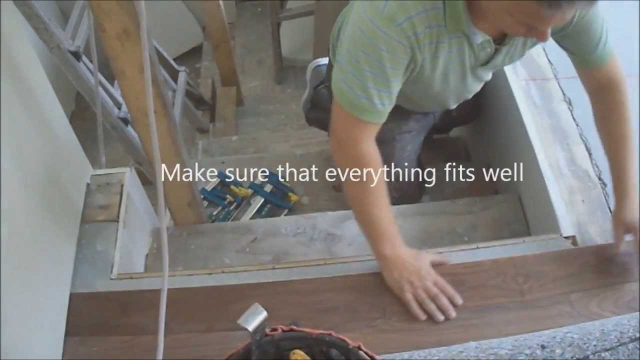 How To Connect Hardwood Floor With Staircase Top Stair Nosing Installation  Tips Mryoucandoityourself   YouTube