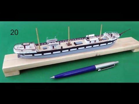 Building a miniature model sailing ship
