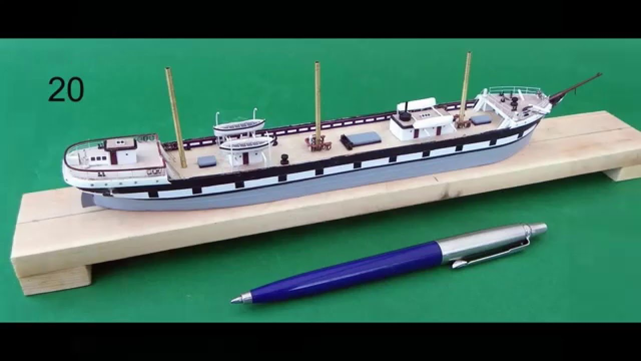 Building a miniature model sailing ship