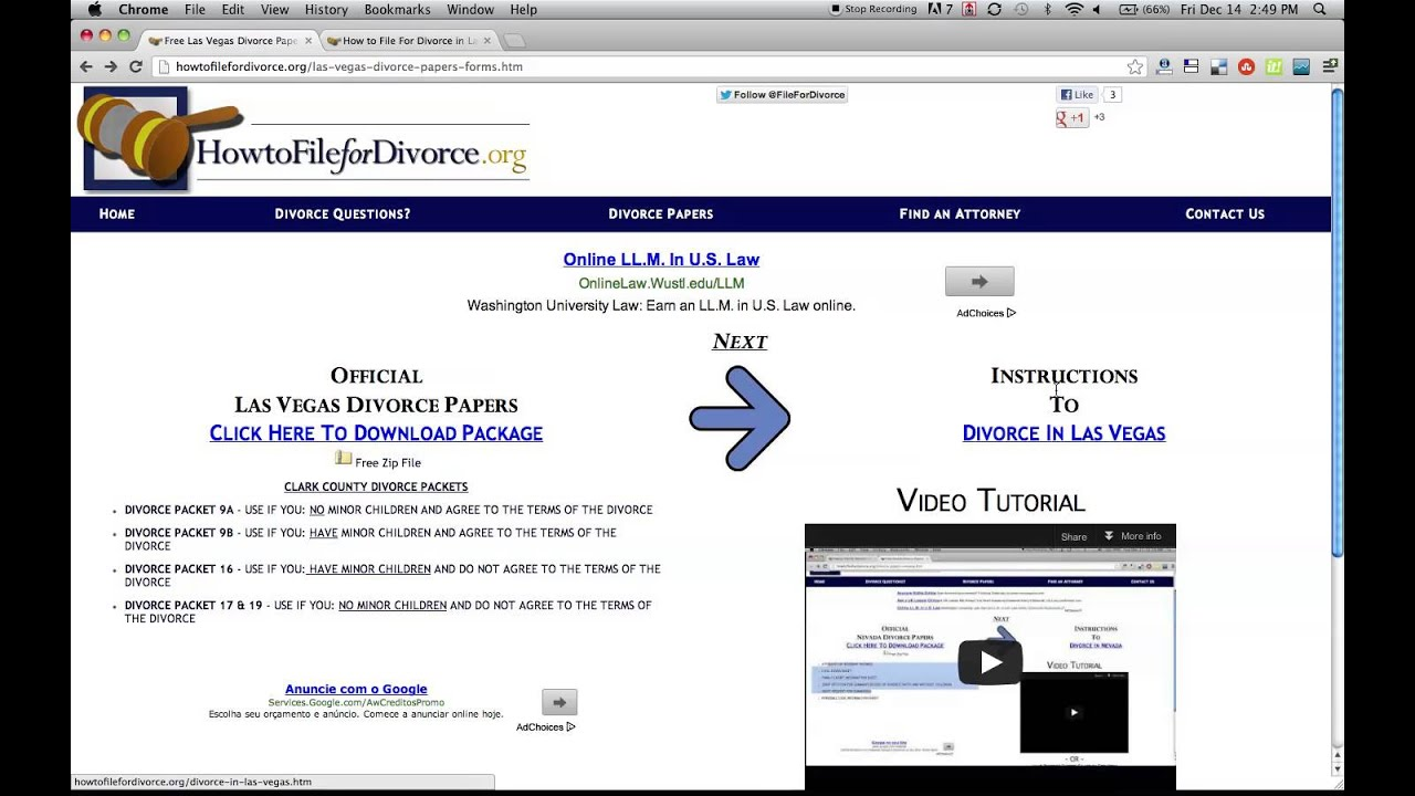 Free Las Vegas Divorce Forms and Papers YouTube – Free Divorce Forms Papers