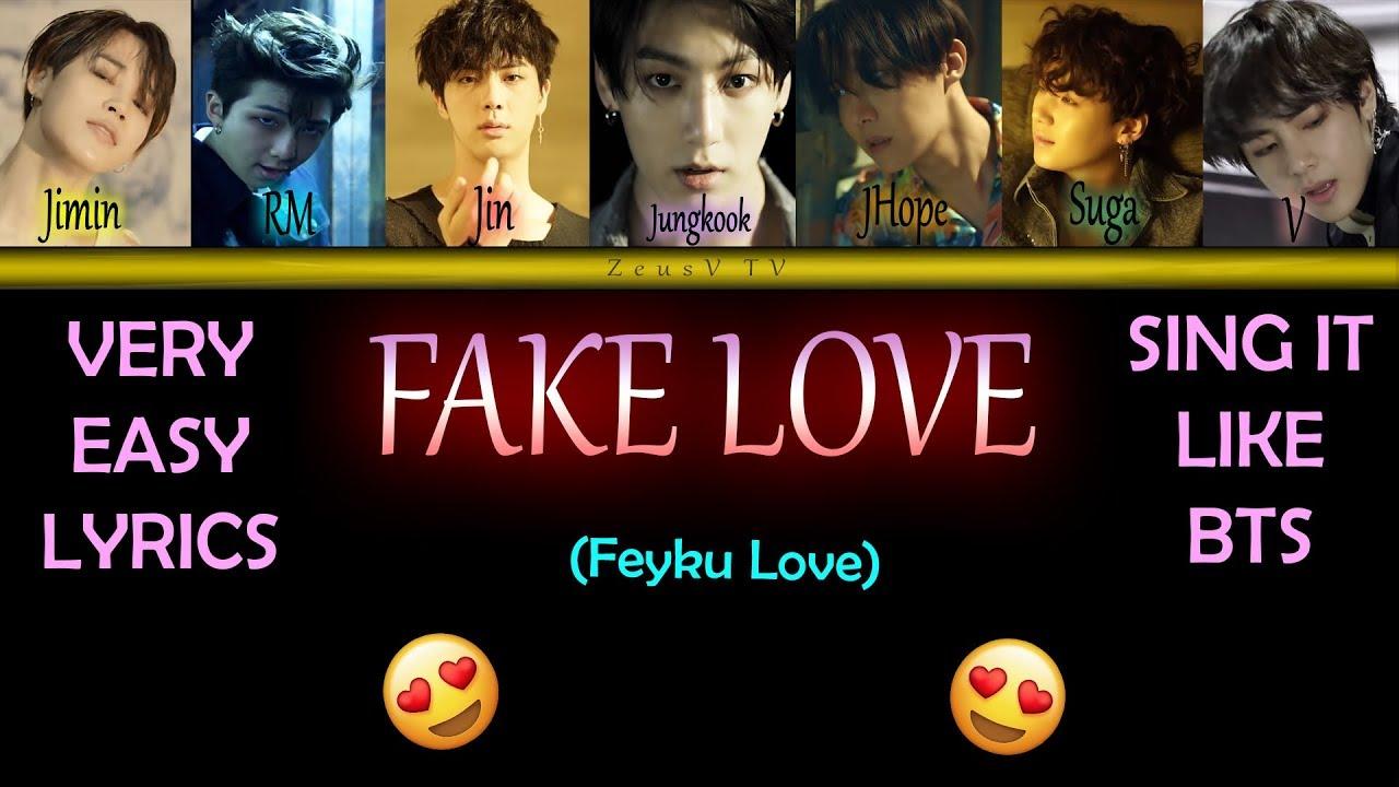 Fake Love Bts Lyrics Easy
