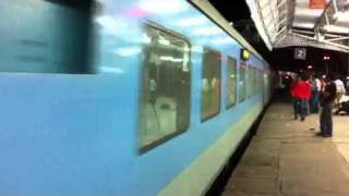 Shatabdi Express at Agra Cantt station. Indian railways