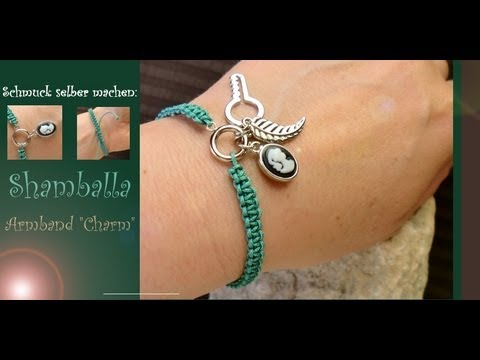 schmuck selber machen shamballa armband mit charm e. Black Bedroom Furniture Sets. Home Design Ideas