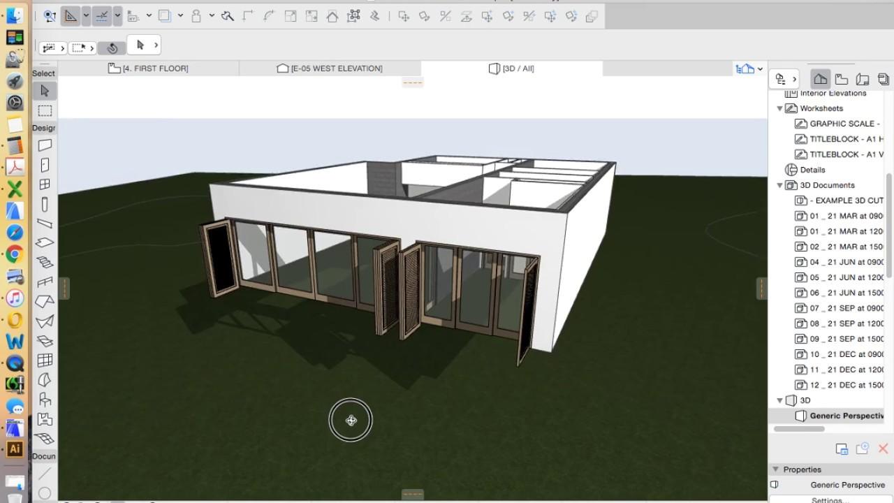 ArchiCAD 21 - tutorial part 23 - Doors_external