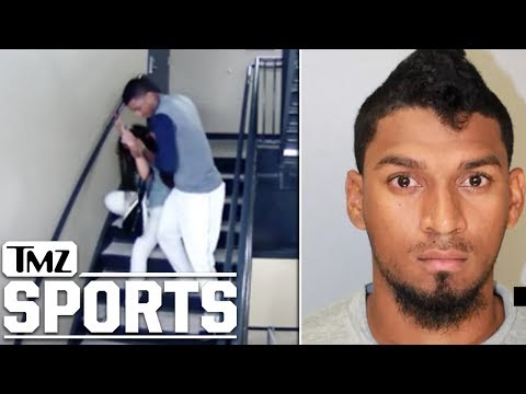 Baseball Player Danry Vasquez Caught Beating Girlfriend On Stadium Surveillance | TMZ Sports
