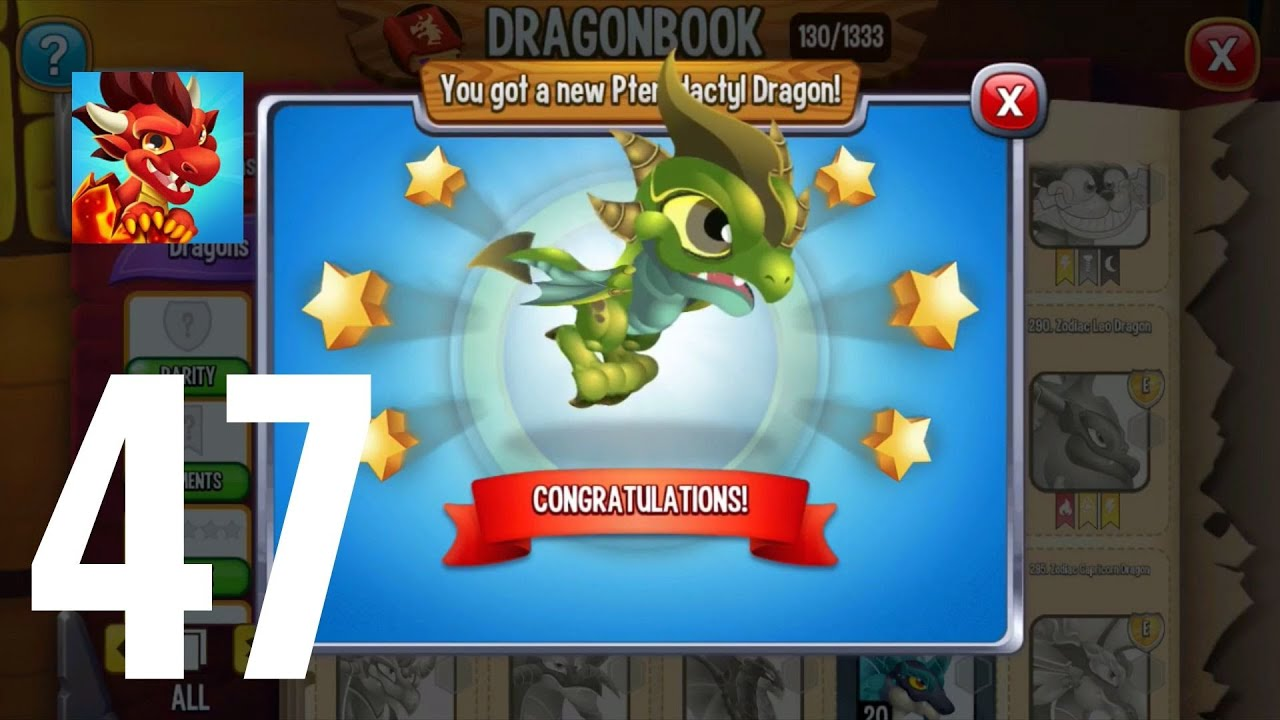 Dragon City-Gameplay Walkthrough Level 51 Part 47-Pterodactyl Dragon-Puzzle
