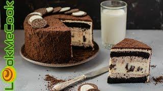 ТОРТ ОРЕО С ЧИЗКЕЙКОМ ОРЕО. Рецепт приготовления шоколадного бисквита. Чизкейк ОРЕО внутри