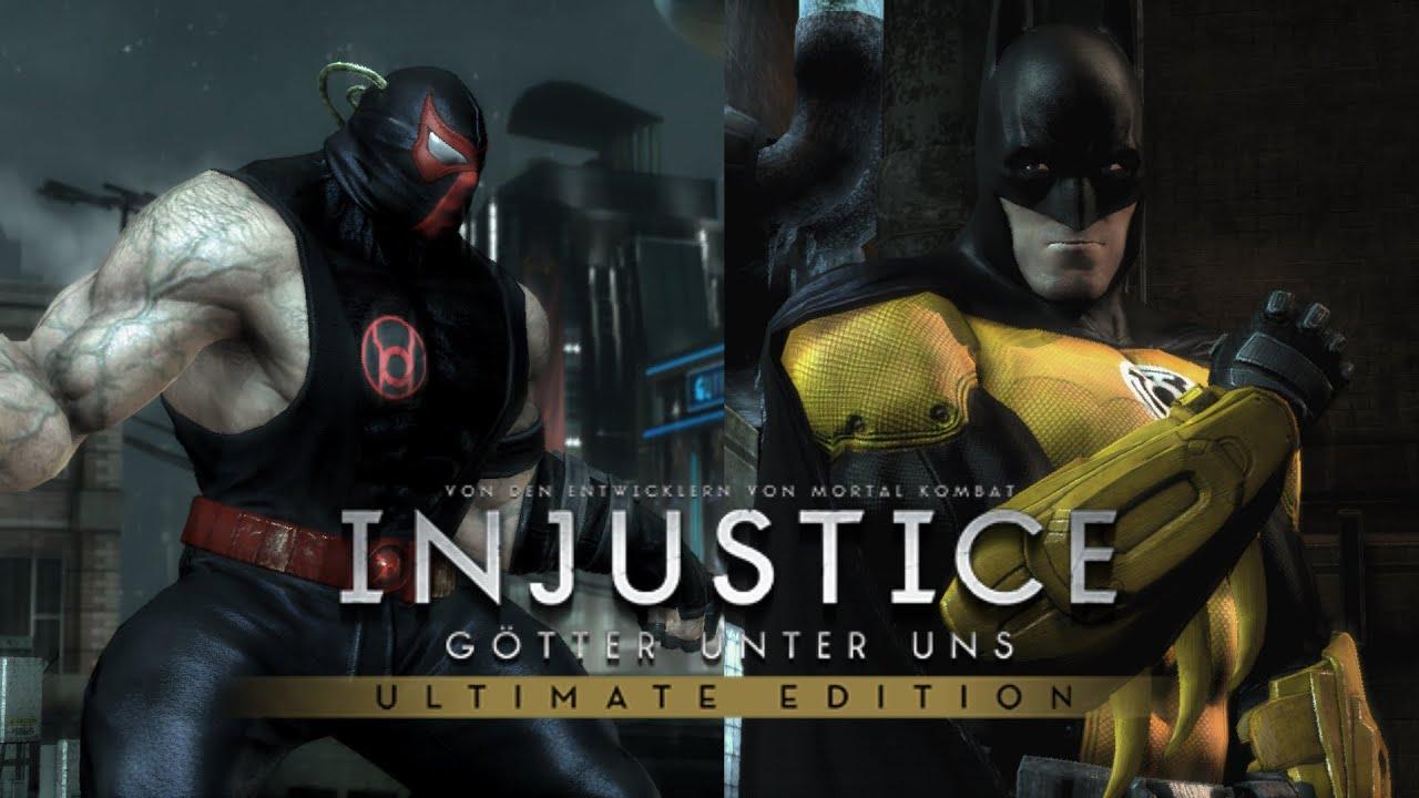 Injustice Ultimate Edition PC   Bane (Red Lantern) vs ...