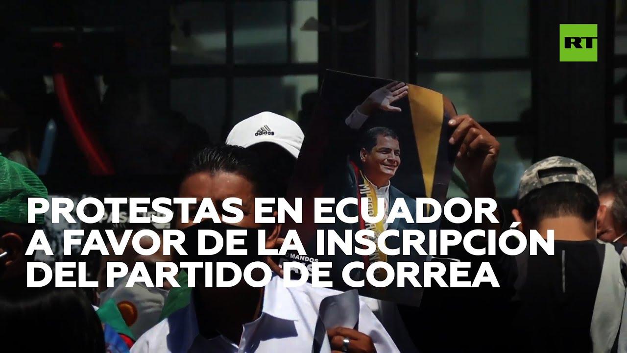 Ecuador: Partidarios de Correa piden el registro del UNES ante el Consejo Electoral