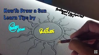 Learn How to Draw a Sun with pencil Paul Carter