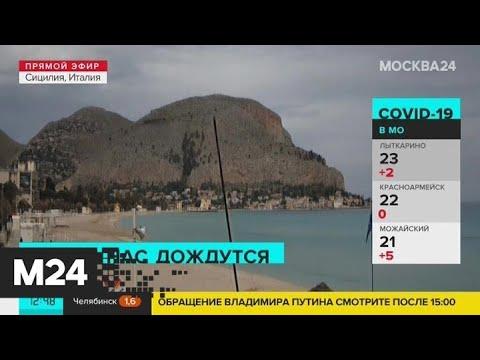 Пляжи Сицилии и Тенерифе опустели из-за коронавируса - Москва 24