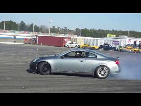 Infiniti G35 drifting at NOPI Nationals 2018