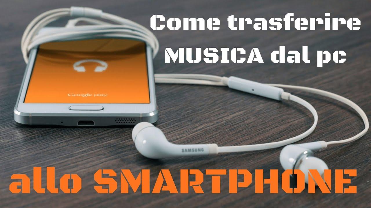Come scaricare musica dal pc al cellulare con il cavo